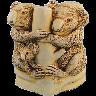 Harmony Kingdom Family Tree Treasure Jest Box Figurine Koala