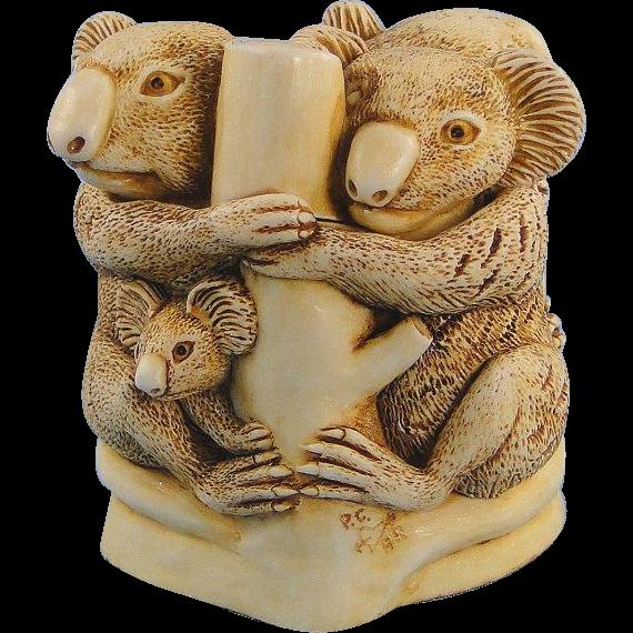 Harmony Kingdom Family Tree Koala Treasure Jest Box Figurine