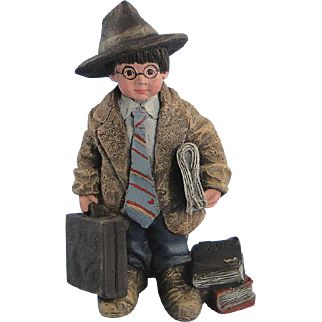 Sarah's Attic Executive Whimpy Figurine Business Suit Limited Edition