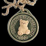 Artesania Rinconada Teddy Bear Medallion Rosemont 2000 Show