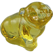 Fenton Glass Buttercup Pig Figurine Rare and Limited