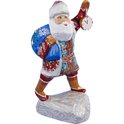 G. DeBrekht Russian Santa Miniature Carved Wood Masterpiece Series