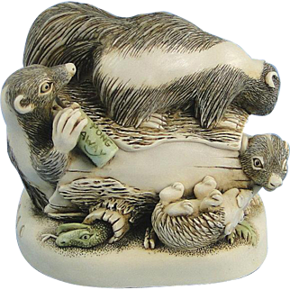 Harmony Kingdom Foul Play Skunks Treasure Jest Box Figurine