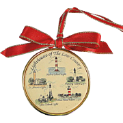 Barlow Ornament Lighthouses South Carolina Vintage Brass
