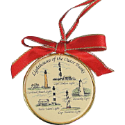 Barlow Ornament Lighthouses North Carolina Vintage Brass