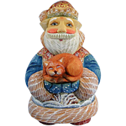 DeBrekht Santa Cat Purrfect Pair Christmas Russian Folk Art