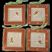 Christmas Miniature Plates Noel Design Set of Four