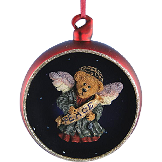 Boyds Bear Ornament Serendipity Peace Bearstone Limited Edition