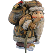 DeBrekht Santa Kris Kringle with Skis Russian Folk Art Christmas