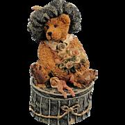 Boyds Bearstone Victoria The Lady Trinket Box Vintage