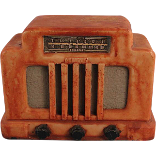 Vintage Radio Figurine Collectors Paperweight