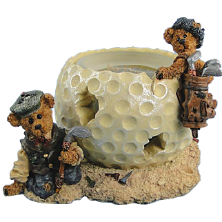Boyds Golf Votive Holder Sebastian and Nicholas The Lost Ball