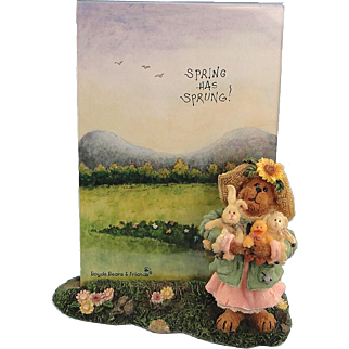 Boyds Bearstone Frame Miss Hattie Springtime Friends 1E