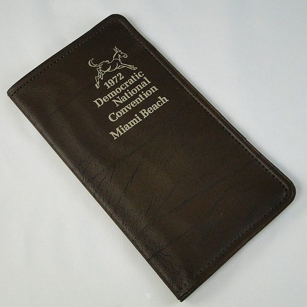 1972 Democratic Convention Notebook Miami Beach