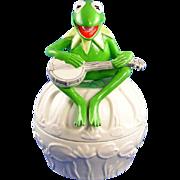 Kermit Frog Sigma Ceramic Dish Tastesetters Vintage Rare