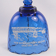 Fenton Williamstown Bridge Bell Vintage Twilight Blue Limited Edition