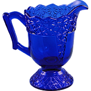 Mosser Cobalt Blue Queen Creamer Retired Glass