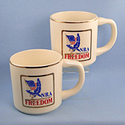 Set Two NRA Mugs Vintage 1970s Ceramic National Rifle Association