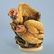 Harmony Kingdom Owls Treasure Jest Box Figurine Tender is the Night
