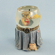 Boyds Goldie's Fish Bowl Trinket Box Uncle Bean's Treasure Boxes