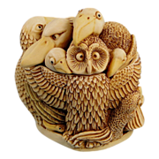 Harmony Kingdom Teacher's Pet Owl Birds Treasure Jest Box