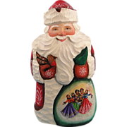 G. DeBrekht Masterpiece Santa Carved Wood Russian Design