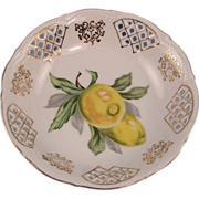 UCAGCO Reticulated Dish Occupied Japan Lemons Design