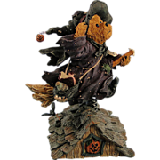 Boyds Bearstone Halloween Witch Griselda Broomster ... Midnight Flight