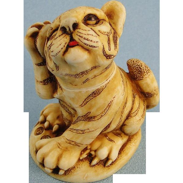 Harmony Kingdom Orange Crush Tiger Box Figurine