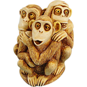 Harmony Kingdom Inside Joke Monkeys Box Figurine