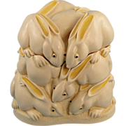 Harmony Kingdom Rabbits Rather Large Hop Treasure Jest Box