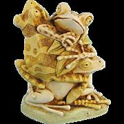 Harmony Kingdom Menage a Trois Frogs Version 1 Treasure Jest