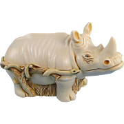 Harmony Kingdom Horn A' Plenty Rhino Treasure Jest Box Rare Version
