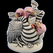 Harmony Kingdom Bum Wrap Black Box Vultures Zebras Signed