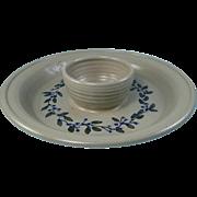 Salmon Falls Stoneware Chip Dip Platter Salt Glaze Pottery