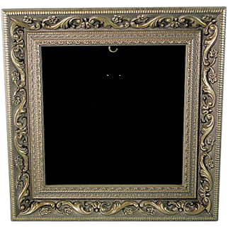 Square Shadow Box Frame for Ornaments Collectibles Gold Silver