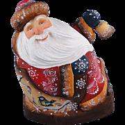 DeBrekht Masterpiece Rocking Santa Carved Wood Russian Christmas