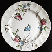 "Delightful Vintage Johnson Brothers 10"" Plate, ""Day in June"" Botanical Florals, 1954-1965"