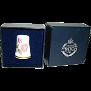 Vintage MINTON Bone China Thimble Danbury Mint Thimbles Of The World Series