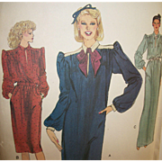 Vintage Sewing Pattern: VOGUE 1980s Dresses