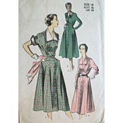 Vintage 1955 Day Dresses Sewing Pattern UNCUT SALE!