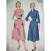 Vintage Sewing Pattern 1950s Day Dresses Summer SALE!