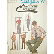 Vintage Sewing Pattern: Men's Trousers UNCUT
