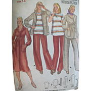Vintage Sewing Pattern: Maternity Button-down Dress and Separates