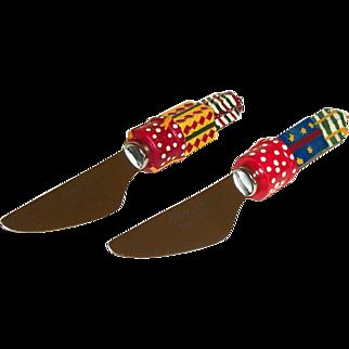 Vintage Christopher Radko Holiday Celebrations Spreader Knives Set SALE