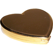 Vintage Heart-Shaped Powder Compact