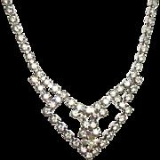 Vintage Rhinestones Sparkle Necklace