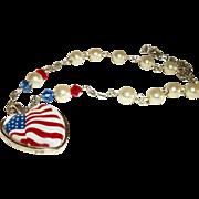 Artisan I Heart Americana Necklace Set