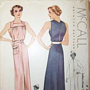 Vintage 1930s Dress & Swing Jacket Printed Sewing Pattern