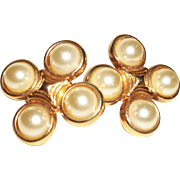 Vintage Faux Pearls Clip Earrings